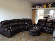 SOFA...Electric reclining sofa set (Full Leather)